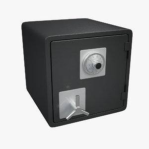 3d safe combination lock model