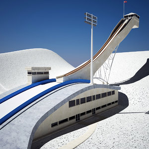 ski jump 3d model