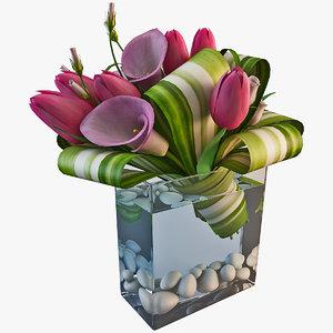 3ds bouquet flowers 4