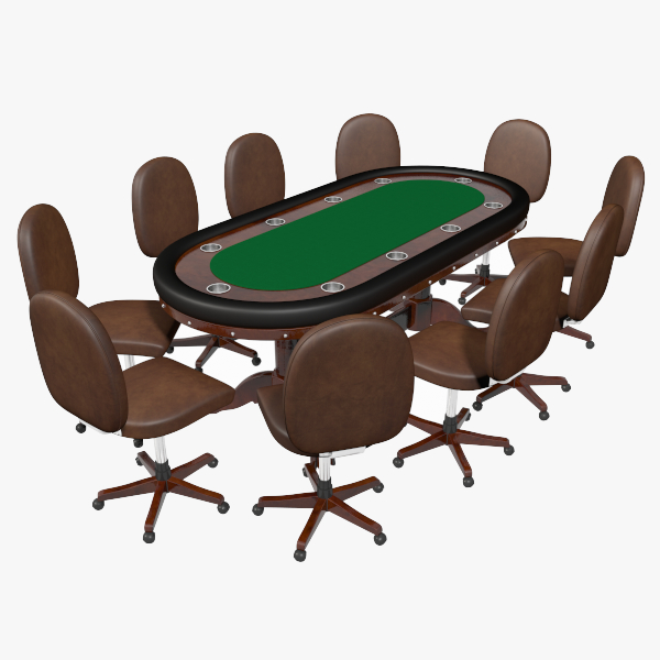 3d tournament poker table model