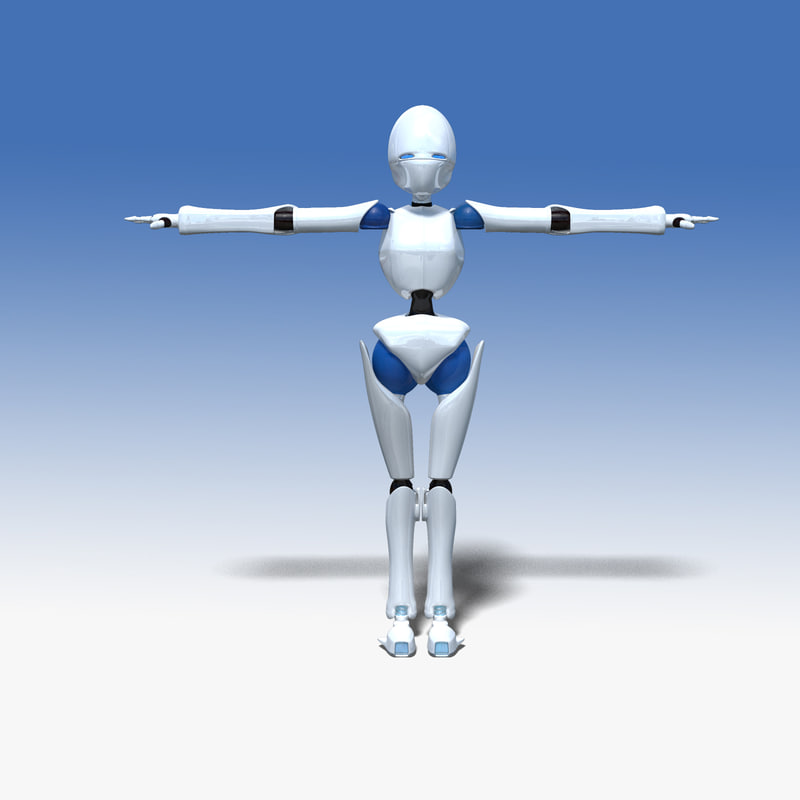 3d robotic character model