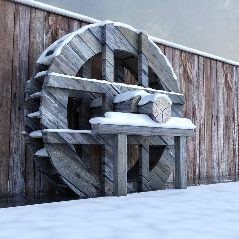 3d water snow