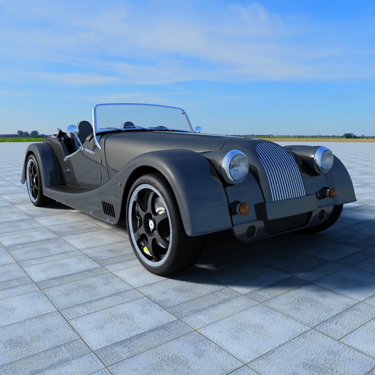2013 morgan 8 sports car obj