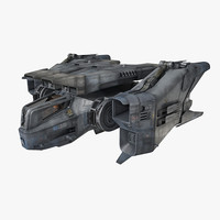 3d model scifi fighter