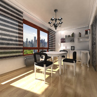 office room interior scene fbx