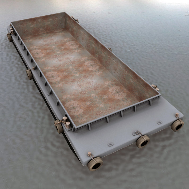 3d model of bulk cargo barge