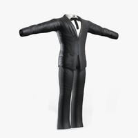 3ds max black suit
