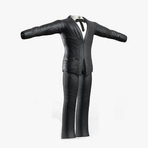 3ds max black suit