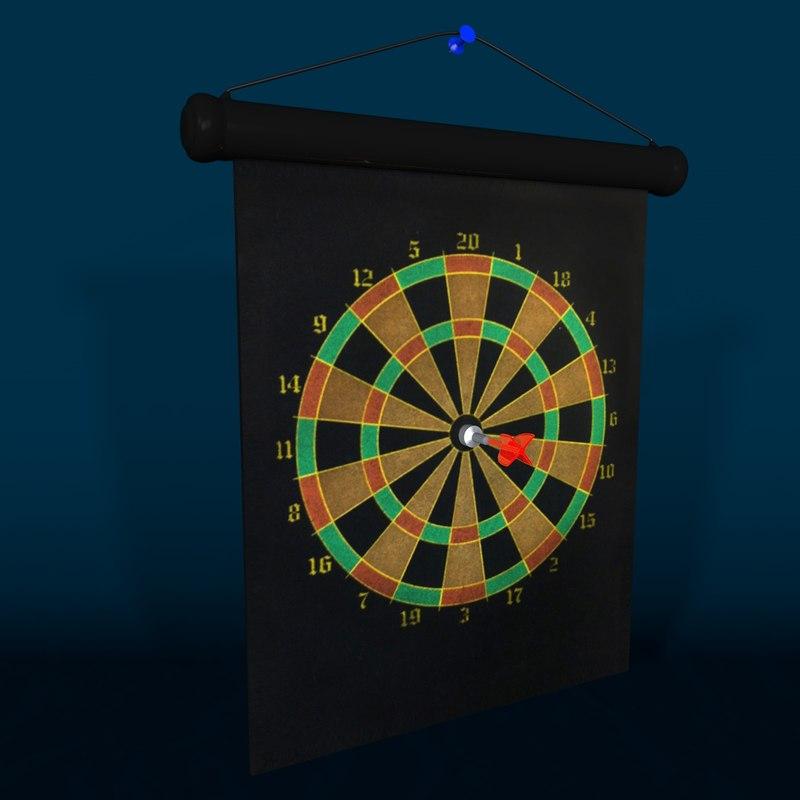 magnetic dart board c4d