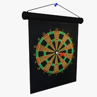 3d model magnetic dart board
