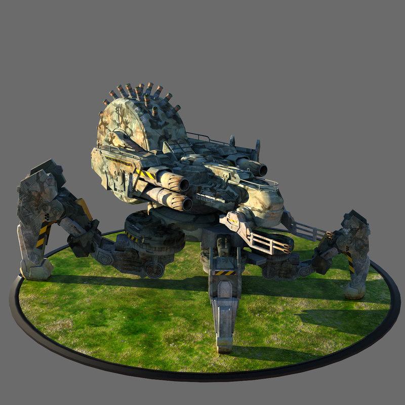 3dsmax spider tank