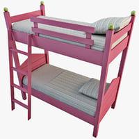 3d bunk bed 2