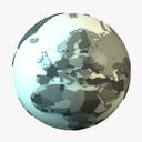 world map 3D models