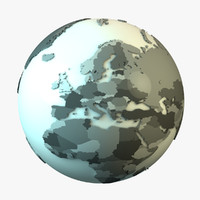3d model earth countries