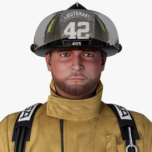 firefighter character rigging 3d max