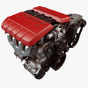 auto engine 3D models
