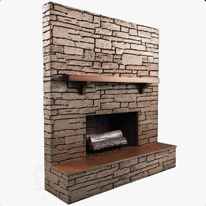 fireplace 11 3d obj