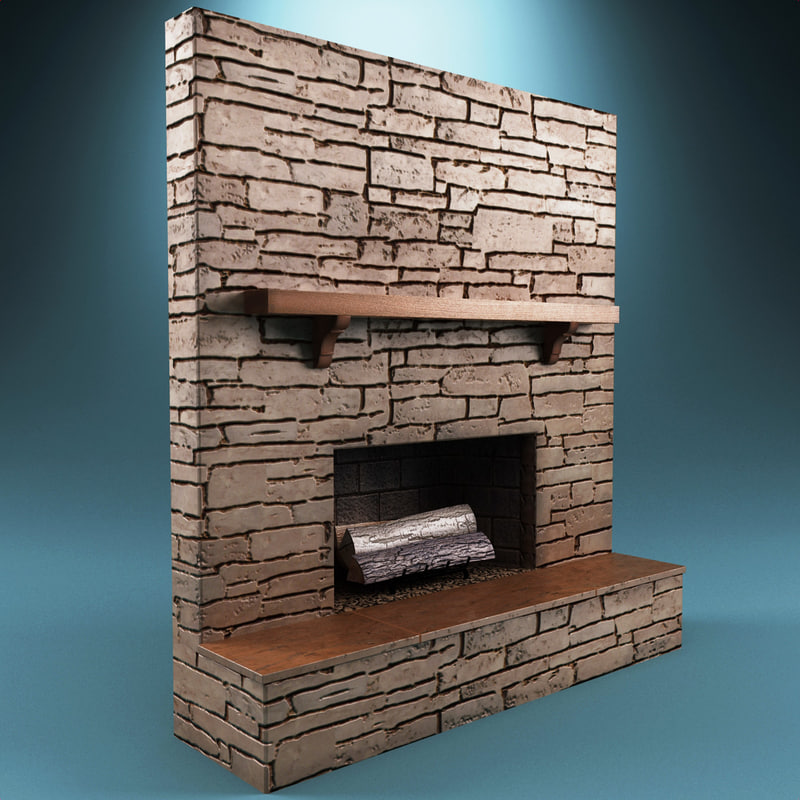 fireplace 11 3d obj