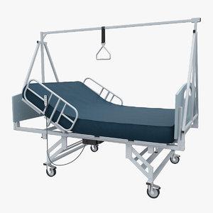convaquip 5500 hospital bed 3d obj