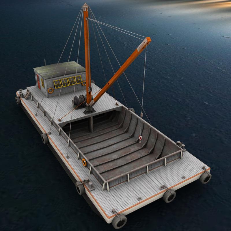 max crane barge