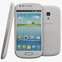 3d model of white samsung s iii