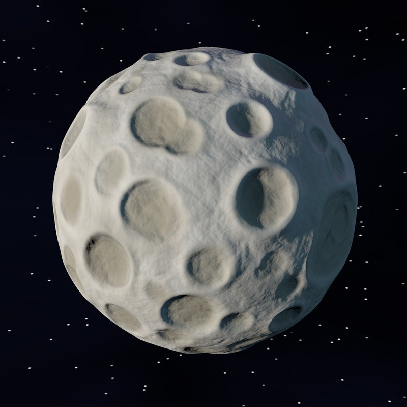 stylized cartoon moon 3ds
