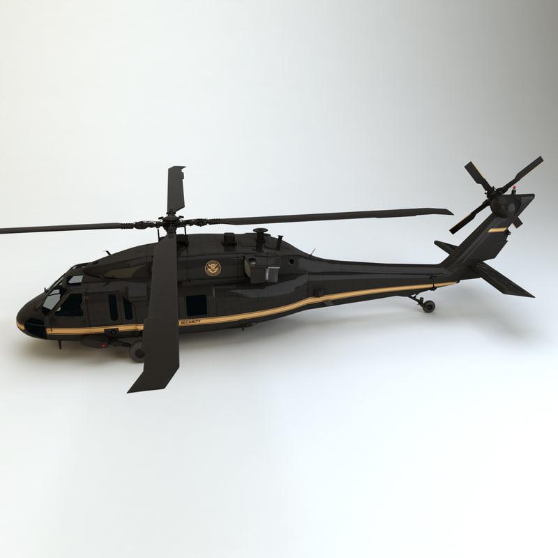 3d uh-60 blackhawk hoeland security odel