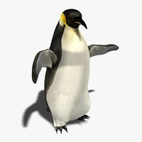 3d ma penguin fur animation