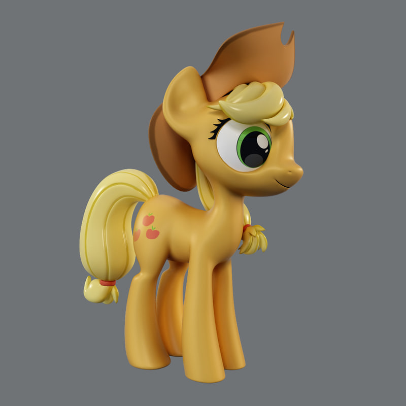 little pony applejack 3d model