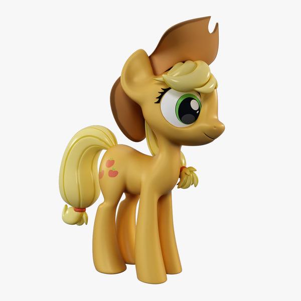 little pony applejack 3d model