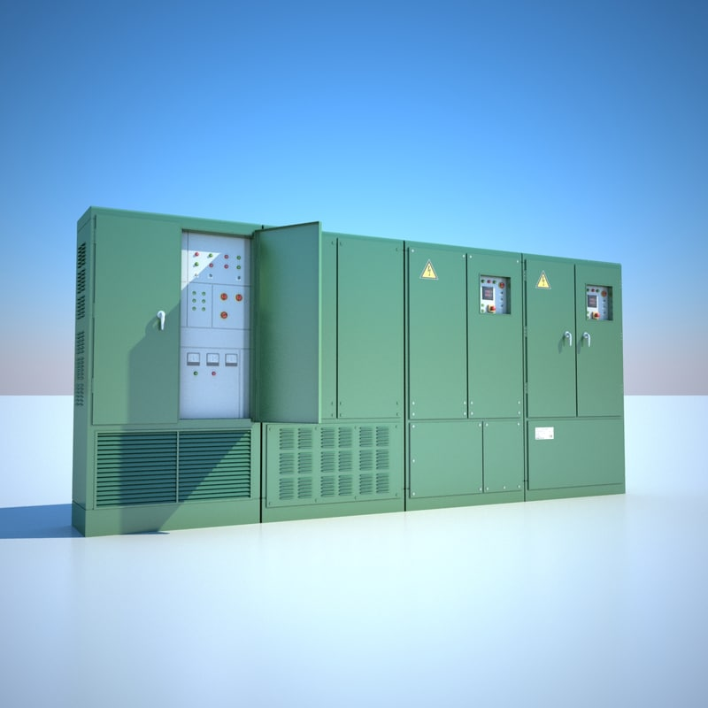 electric cabinets 3d model