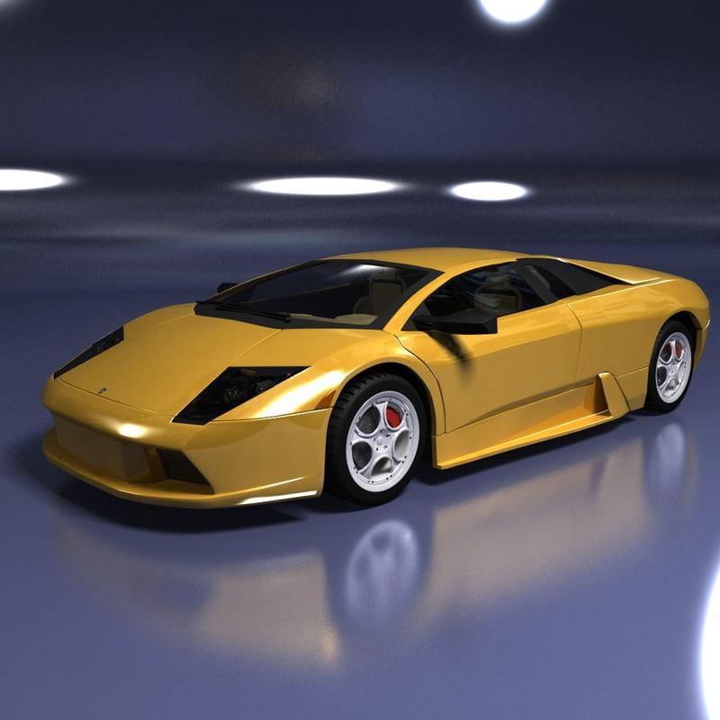 3d model lamborghini murcielago car