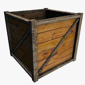 3d model wooden packing box