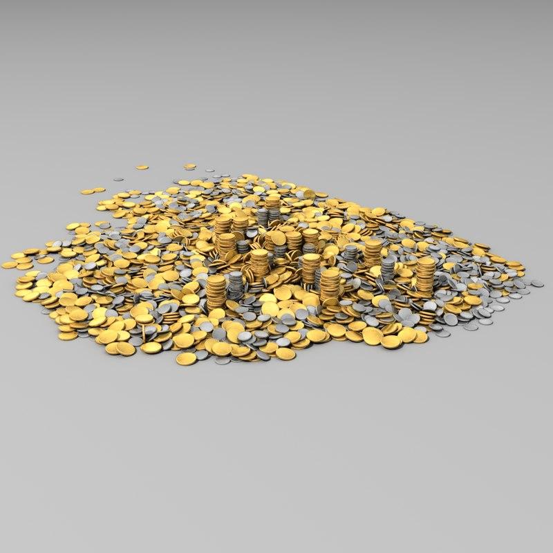 3dsmax coin heap