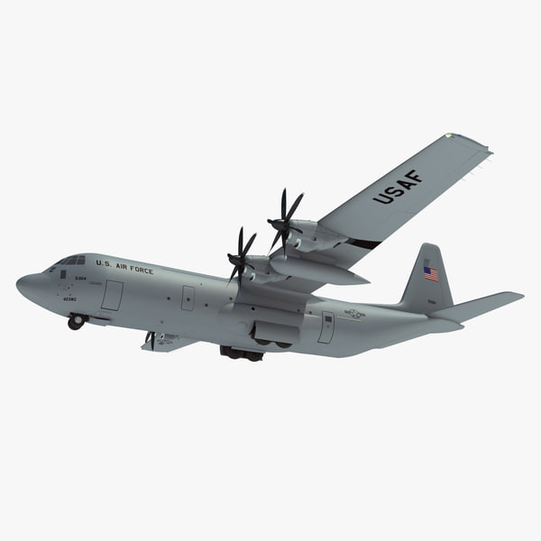 c-130j-30 super hercules military aircraft 3d x