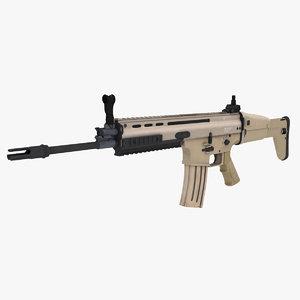 3d special forces assault rifle model