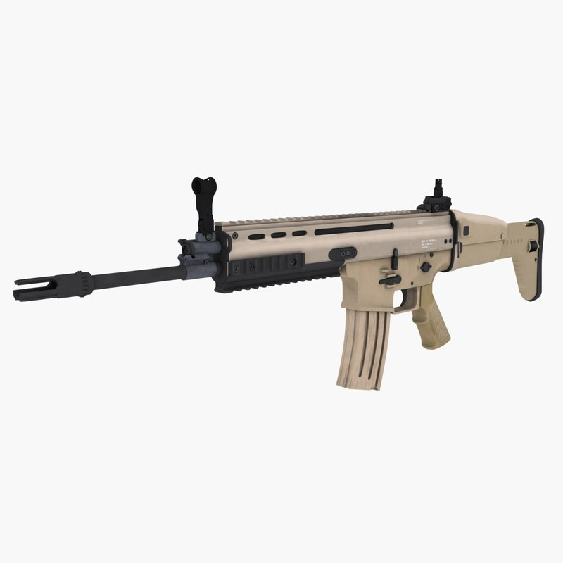 3d special forces assault rifle model
