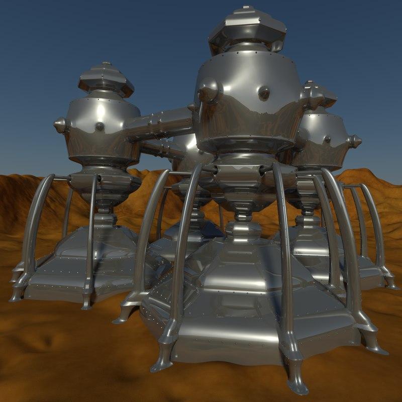 3dsmax structure desert thing