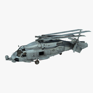 sh-60b military helicopter version 3d model