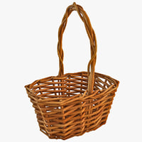 3d model wooden basket