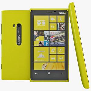 yellow nokia lumia 920 3d max
