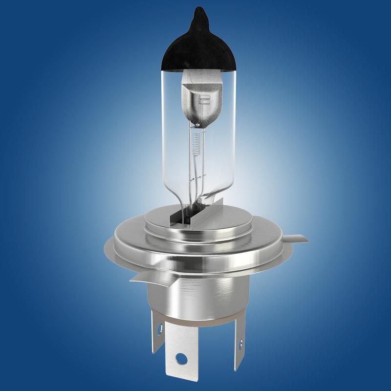 3d model of car bulb