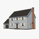 Colonial House 3D models