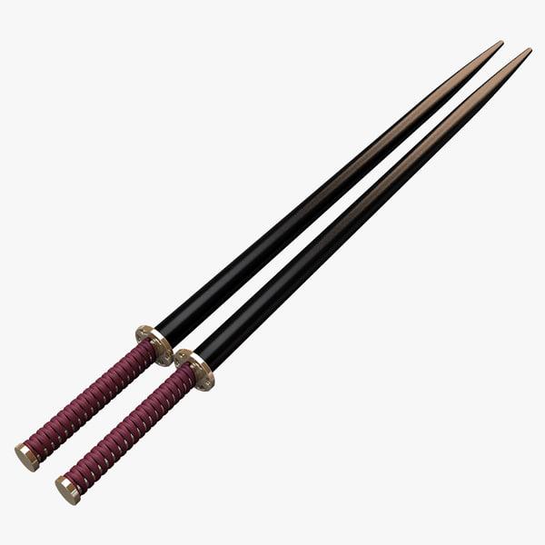3d model sushi sticks