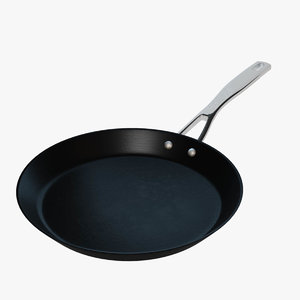 realistic frying pan 3d obj