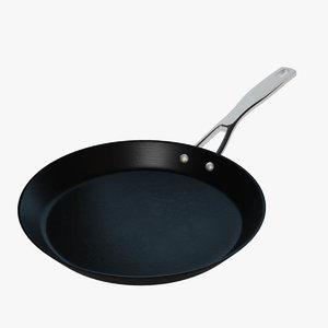 realistic frying pan 3d obj