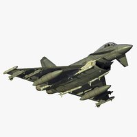 typhoon fgr4 fighter raf 3d 3ds