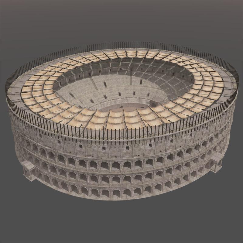 Colosseum Velarium Arena 3d Model