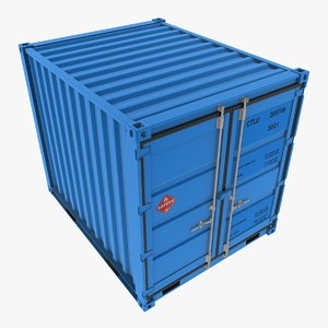 iso 10 shipping container 3d max
