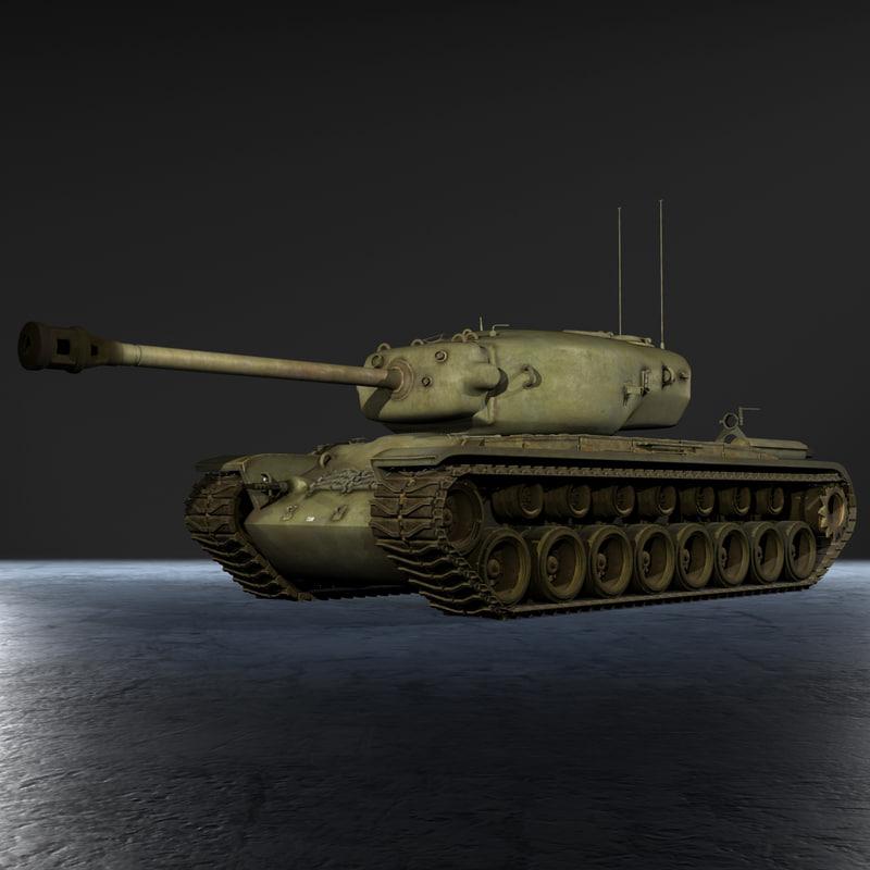 united states t29 heavy tank 3d x